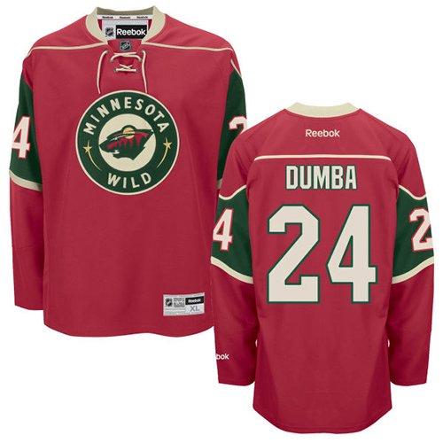2dfc139d8ca Mens Reebok Minnesota Wild 24 Matt Dumba Authentic Red Home NHL Jersey