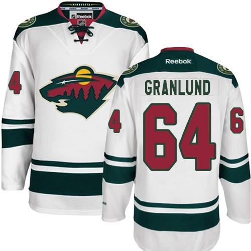 huge discount 97c36 44318 Mens Reebok Minnesota Wild 64 Mikael Granlund Premier White ...