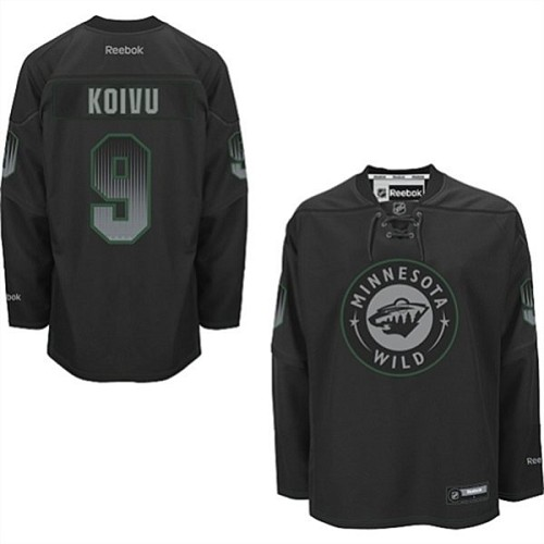 promo code e8f66 8be22 Mens Reebok Minnesota Wild 9 Mikko Koivu Authentic Black ...