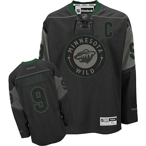 newest collection 0a148 41d7d Mens Reebok Minnesota Wild 9 Mikko Koivu Authentic Black Ice ...