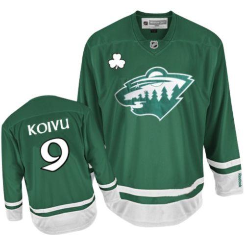 best service 09ee6 79c60 Mens Reebok Minnesota Wild 9 Mikko Koivu Premier Green St ...