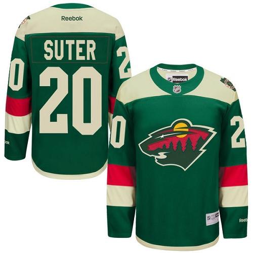 115e7ba7e Youth Reebok Minnesota Wild 20 Ryan Suter Premier Green 2016 Stadium Series  NHL Jersey