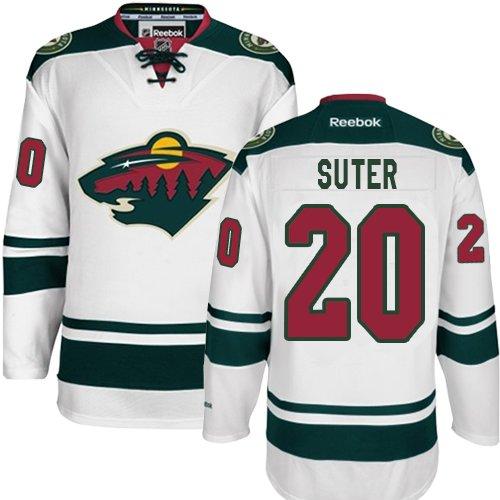 b7864907a Youth Reebok Minnesota Wild 20 Ryan Suter Premier White Away NHL Jersey